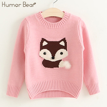 Humor Bear Girls Clothing 2017 New Winter And Autumn Kids Sweater Children's clothing girls' Sweaters Cotton Children Cardigans
