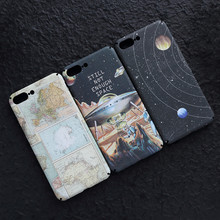 Planet Universe Spaceship Case For iPhone 7/7 Plus/8/8 Plus Hard PC Map Back Cover Anti-knock Phone Cases + Tracking Number