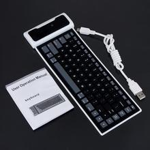 New Flexible Silicone Wireless Bluetooth Keyboard Mini Keyboard with USB Charging Cable Universal For PC Laptop iPad(China)