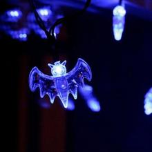 20 LED Fairy String Lights Battery powered 20 Bat outdoor Lights Halloween Decoration Ligh for party atmosphere lighting(China)