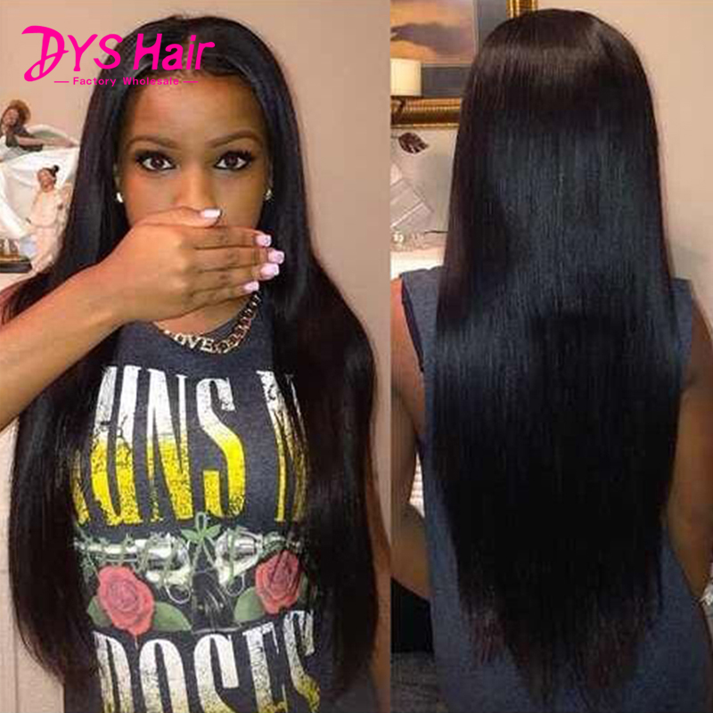 Long Straight Synthetic Lace Front Wig Glueless Heat Resistant Synthetic Wigs For Black Women Natural Black Hairline Women Wigs<br><br>Aliexpress