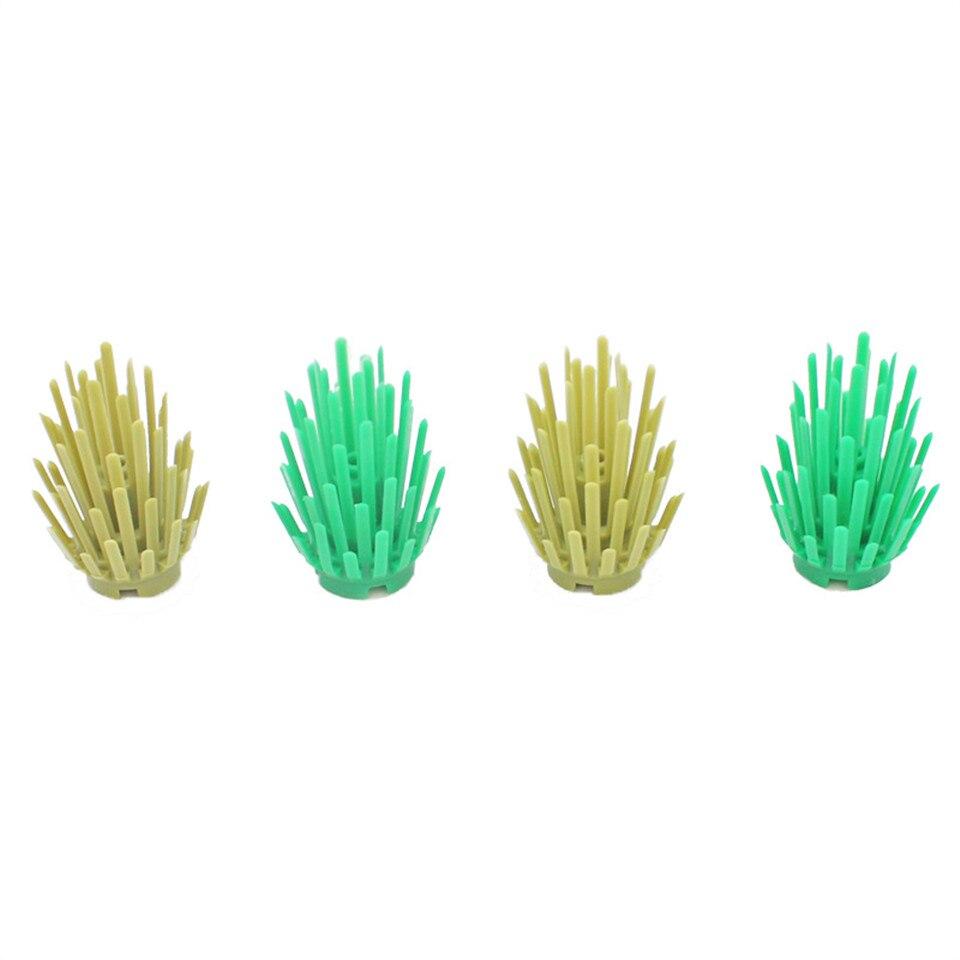 10Pcsset LegoINGlys Mini Bush Tree Plant Grass Shrub Building Blocks Military Weapon MOC Accessory DIY Arms Toys For Children (4)