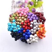 20pcs/40head Pearl Double Head Berries Mini Fake Fruit Berries Artificial Red Cherry Flower Bouquet Stamen Christmas Decorative