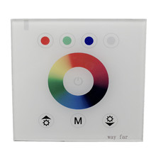 Led DIY NEW 86mm Type Wall Mount RGB RGBW LED Controller Touch switch Panel dimmer for DC12-24VV LED strip lights TM074