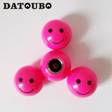 DATOUBO 16 pcs high quality car tire valve stems cap,novelty pink blue color smile face design universal Shcader valve cap.(China)