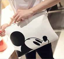 Women Hello Kitty Messenger Bag Minnie Mickey Bag Leather Handbags Ladies Cartoon Clutch Bag Bolsa Feminina Bolsa Female Handbag