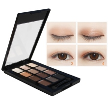 high Quality 12 Colors Eye Shadow Earth Color Makeup Plate Eye Shadow Beauty Female mineral pigment eyeshadow