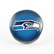 High Quality Glass Snap Button Seattle Seahawks Football Sports Team 18mm Snaps Charms Fit Snap Necklace Bracelet Jewelry(China)