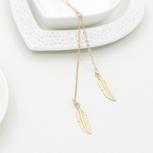 Europe and America Hot selling Fashion choker necklace jewelry gold leaves simple short necklace women christmas gifts(China)