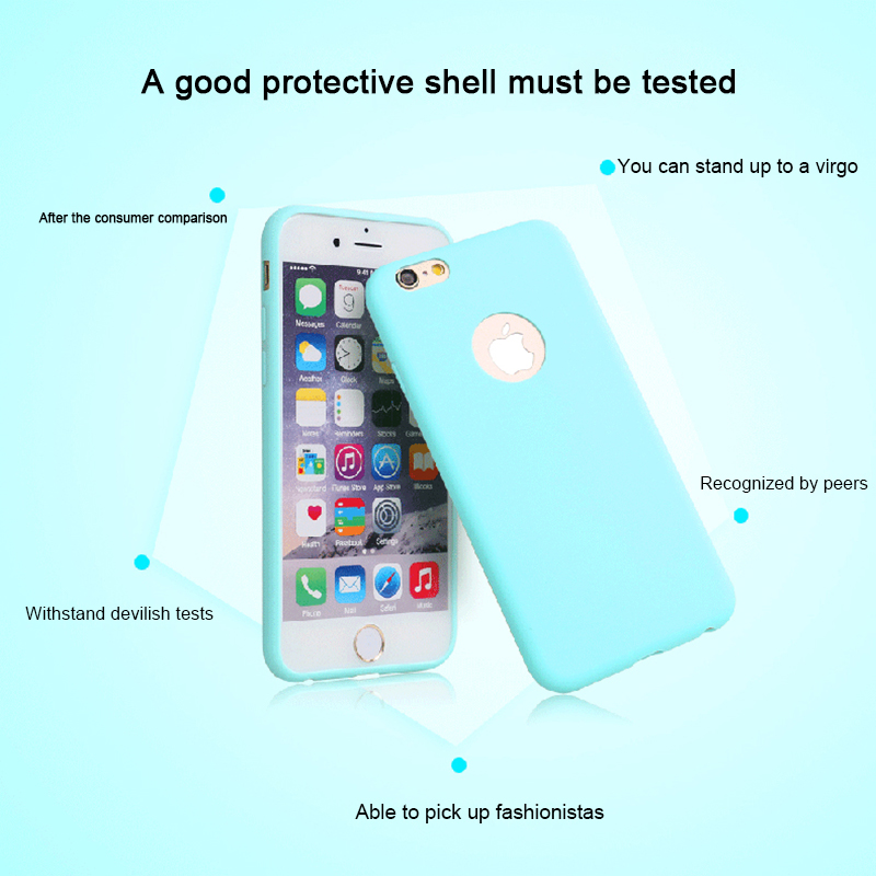 Soft Rubber Silicone Cases For iPhone Cute Candy Anti-knock Cover 9 Colors
