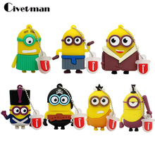 2017 New Arrival Cartoon Pen Drive Minions Flash Memory Stick Pendrive 4Gb 8Gb 16Gb 32Gb 64Gb Usb Creativo Flash Drive U Disk
