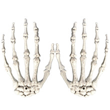 TAOS 1 Pair Plastic Scary Halloween Skeleton Hands Life Size Hands Haunted House Escape Horror Props for Halloween Decoration(China)
