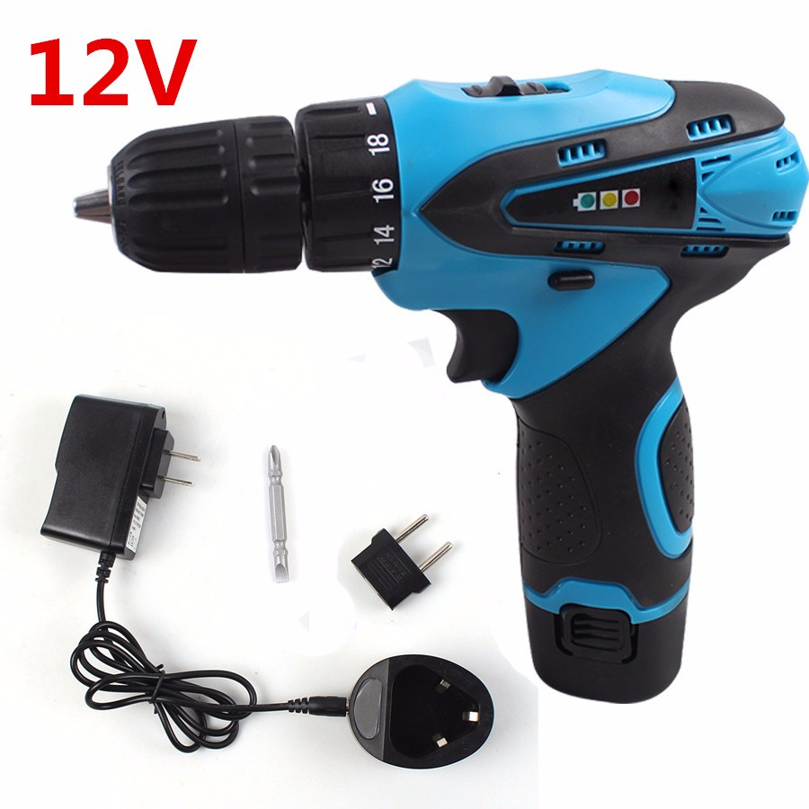12V Cordless Drill Electric Drill Two-Speed Rechargeable Lithium Battery Waterproof Hand Drill LED Light Electric Screwdriver <br><br>Aliexpress