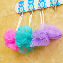 3Pcs/lot Lovely Colorful Bath Ball Bath Rub Bath Flower Cleaning Mesh Shower Wash Sponge Wholesale For Bathroom Accessories