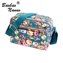 2017 Small Women Shoulder Bag Korean New Fashion Floral Printing Women Messenger Bags Canvas Mummy Ladies Cute Flap Bags
