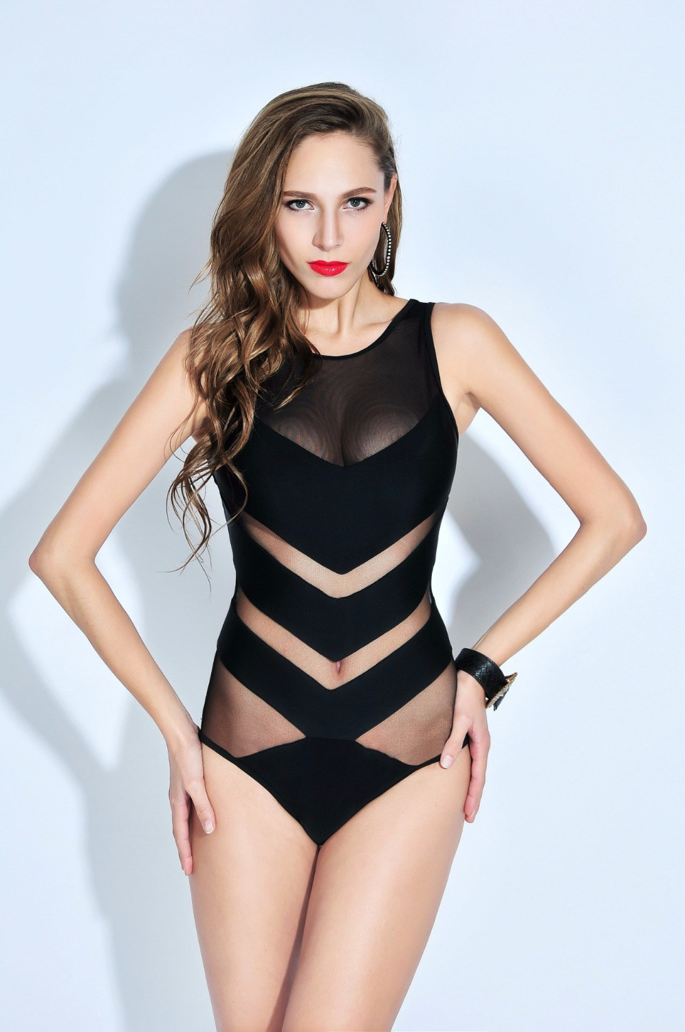Sexy One-Piece Swimsuit Summer Women Swimwear Quick-Dry Lady Beach Wear With Chest Pad<br>
