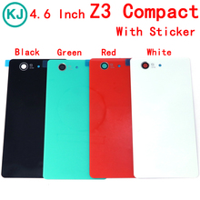 Buy Rear Z3 Compact Battery Back Glass Cover Sony xperia Z3Compact Z3 Mini D5803 D5833 4.6'' Back Door Battery Housing Case for $1.59 in AliExpress store
