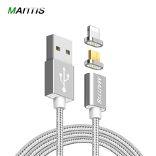 Mantis Micro USB magnetic cable charger nylon rope braided cable for iPhone 6 6s 7 for xiaomi for Samsung fast charging cable