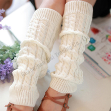Lady knee high socks knit crochet winter warmer new design fashion women warm winter leg warmers knitting nine color as shown