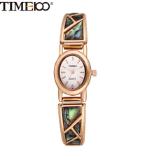 TIME100 Vintage Women Bracelet Watch Analog Quartz Rhinestone Clasp Alloy Strap Dress Wrist Watches For Women relojes de marca(China)