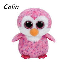 Ty Beanie Boos Original Big Eyes Plush Toy Kawaii Doll Child Birthday Purple Penguin Stuffed Animals  Baby 15cm WJ159