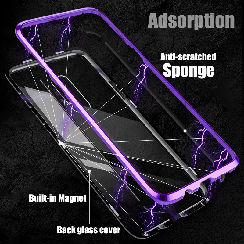 Magnetic-Metal-Case-sFor-Samsung-S-9-Case-Samsung-Galaxy-S9-S9Plus-Phone-Transparent-Glass-Case Cover