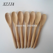 NEW 6pcs/pack 5.3inch Wooden Spoon Ecofriendly Japan Tableware Bamboo Scoop Coffee Honey Tea Spoon Stirrer Free Shipping(China)