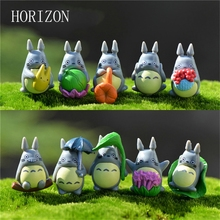 10pcs/lot Miyazaki Figure Gifts Doll Miniature Figurines Resin Japanese Cute Lovely Anime Home Garden Decoration