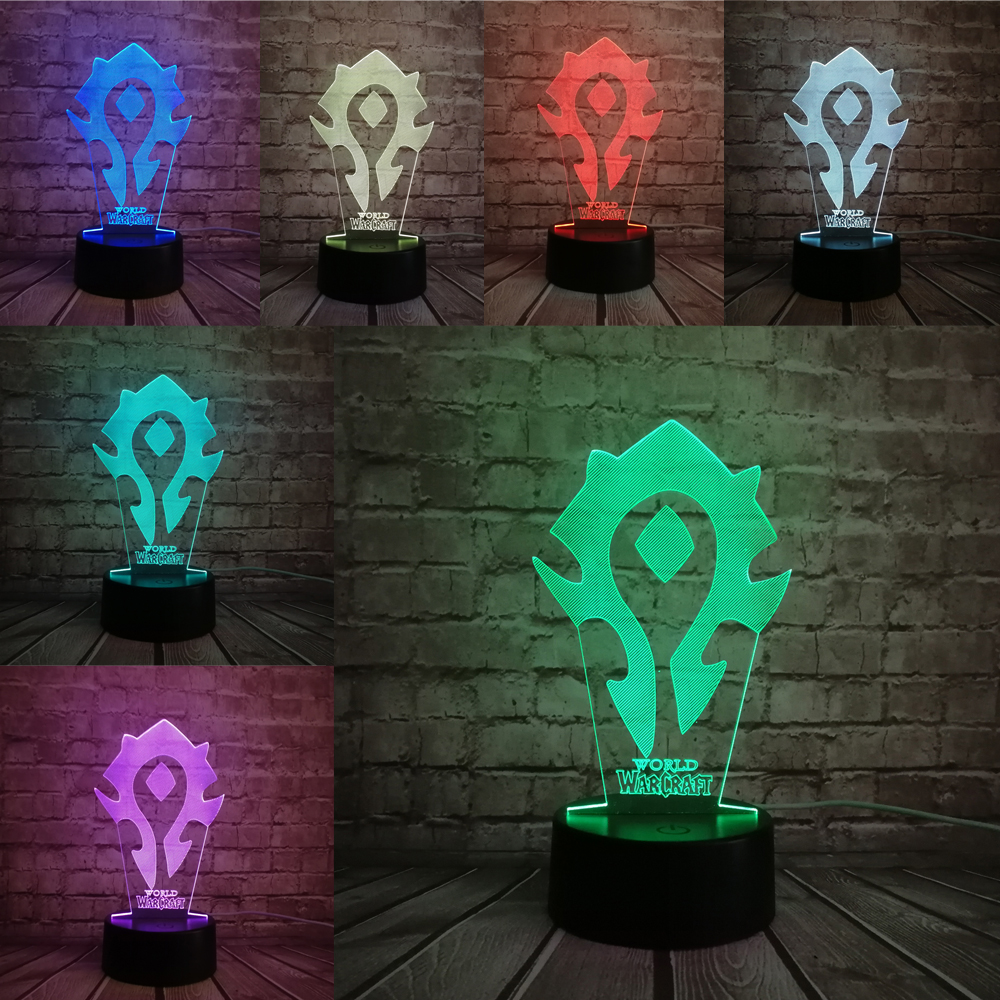 World of warcraft wow game pc 3d lamp figure lampara toy toys