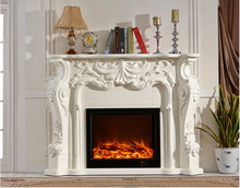 Free shipping to Russia by railway cheap fireplace mantel(China)