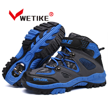 WETIKE Kid's Hiking Shoes Sports Climbing Boots Anti-slip Trekking Hiking Snow Boots Outdoor Winter Sneaker For Boy Girls(China)