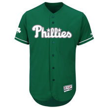 MLB Men's Philadelphia Phillies Baseball Green Fashion Celtic Flex Base Authentic Collection Jersey(China)