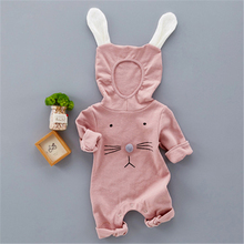 Baby Lovely Animal Rabbit Hooded Rompers Clothes Spring Autumn 0-12M Jumpsuits Cotton Soft Cute Bebes Infantil Clothes