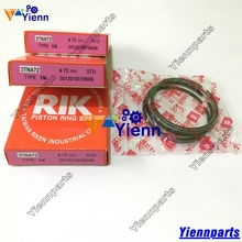 Yanmar 3TN72 3TNA72 3TNE72 Piston ring set YM719620-22500 for yanmar 3TN72 3TNA72-U3C 3TNA72L diesel engine repair parts(China)