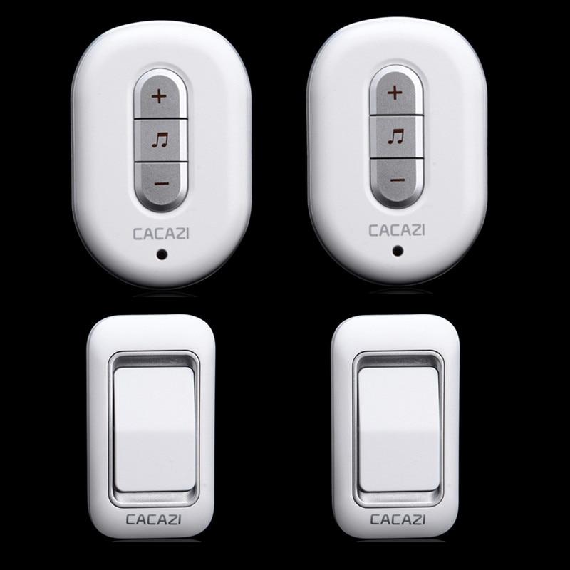 2 doorbell buttons 2 doorbell receivers AC 110-220V 300M remote control digital waterproof button wireless door chime<br><br>Aliexpress