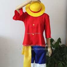 Free shiping One Piece Monkey D. Luffy 2 Years later Cosplay Costume Cloth anime cosplay Halloween costume(China)