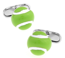 Men Gift Fashion Cufflinks Wholesale&retail Fluorescent Green Color Copper Material Novelty Tennis Ball Design