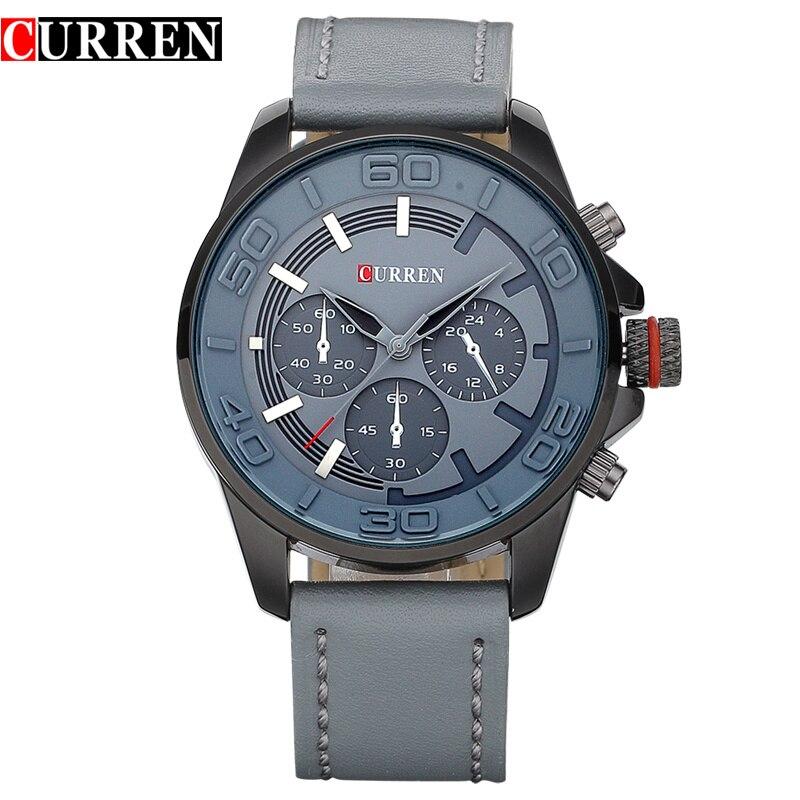 Curren 2016 new fashion brand design business men clock casual leather luxury wrist quartz army sport watch 8187<br><br>Aliexpress