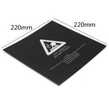 5pcs 220x220mm Plastic 3D Printer Accessories Hot Bed Stickers For Wanhao i3 3D Printer Parts & Accessories(China)
