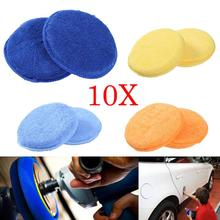 10Pcs Ultra-fine Fiber Round Wax Sponge Car Glass Window Windshield Cleaning Wipe Microfiber Rub Automobiles Washer Brush Cloth(China)