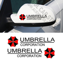 (12 pairs/lot) UMBRELLA CORPORATION Rear View Mirror Car Stickers for Ford Focus Cruze Rio Skoda Octavia MAZDA CX-5(China)