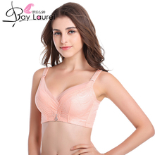 Women Push Up Bra Deep V Underwire Padded Lace Brassiere B/C Cup Adjustable Gather Side 3/4 Cup Solid Lace Plunge Sutia