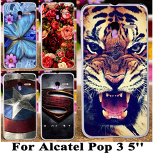 Silicone plastic 5inch 3G Version cases For Alcatel OneTouch Pop 3 5016A 5016J 5015D 5015E Dual Sim One Touch Pop3 5015X 5015A