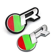 Red Green Round R Logo Quality ABS Car Styling Refitting Emblem Badge 3D Sticker / Grille for Jaguar XF XJ Racing Sport Mark