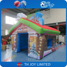 2017 new design large outdoor christmas decorations inflatable santa grotto,popular inflatable christmas house(China)