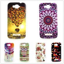 For Alcatel One Touch Pop C7 Case TPU Owl Flower Design Phone Skin Cover For Alcatel One Touch Pop C7 OT 7040 7040D OT7040 7041D