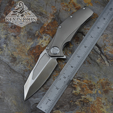 KEVIN JOHN VENOM matrix Folding Ball bearing Flipper Knife S35VN Titanium carbon fiber camp hunt survival outdoor knives tools