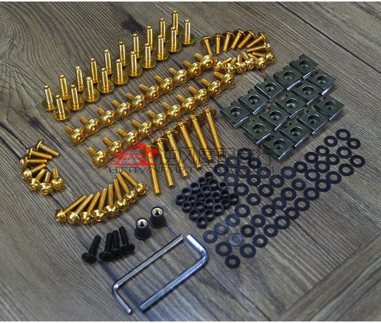 Accessories fits Kawasaki NINJA 250 300  fairing screw housing screw screwdriver modified color screw aluminum alloy<br>