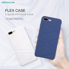 Buy Nillkin Flex Case iPhone 8 phone case Liquid silicone soft cover iPhone 8 Plus case phone protective cover matte case for $13.99 in AliExpress store