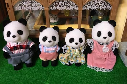Sylvanian Family  Panda family Figures Anime Cartoon figures funny lovely  Child  gift<br>